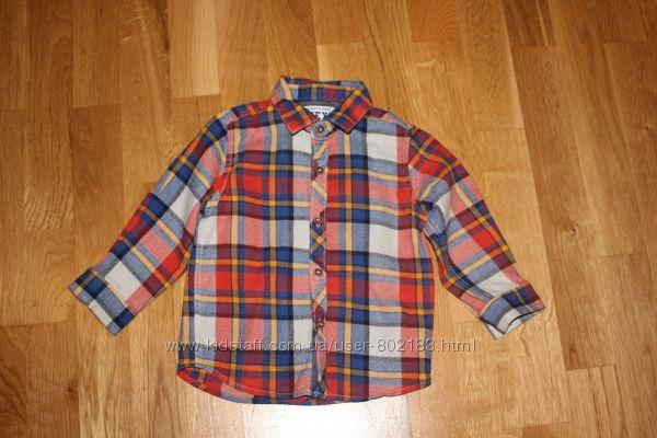Фирменные рубашки на 2-3 года рост 92-98 см с длинным и коротким рукавом