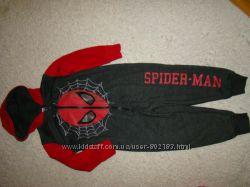 Байковый человечек слип пижама Spider Man от George на 2-3 года рост 92-98