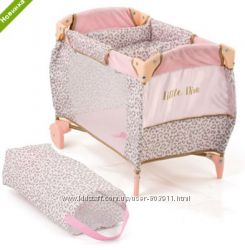 Кровать-манеж 2в1 для куклы HAUCK By Little Diva