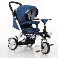 Трехколесный велосипед коляска Turbotrike M AL3645 dark blue