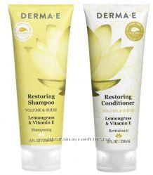 Восстанавливающий Шампунь и Кондиционер с витамином Е Derma E США