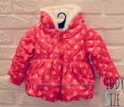 Куртка для девочки на флисе утепленная - В наличии