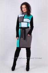 Вязаное платье с горлом теплое Осень Зима Качество Выбор