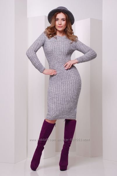 Платье-футляр вязаное 42-46 Качество Выбор Наличие