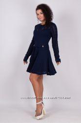 4cd453c75af Распродажа Легкое вязаное ажурное платье Анжелла с юбкой солнце