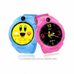 Детские умные часы Q360 розовые и голубые