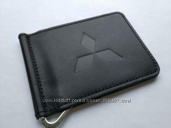 Зажим для денег из натуральной кожи Mitsubishi