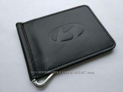Зажим для денег из натуральной кожи Hyundai
