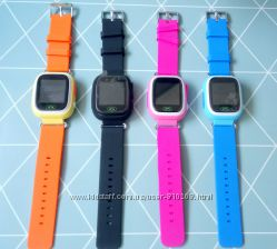 Детские gps часы сенсорные Smart baby watch Q100 q90