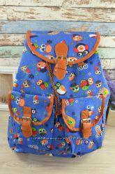 Молодіжний рюкзак принт - сови