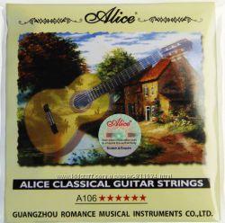 Гитарные струны Alice a106, прозрачные нейлоновые струны