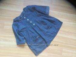 Фирменная джинсовая туника George малышке 3-4 года состояние новой