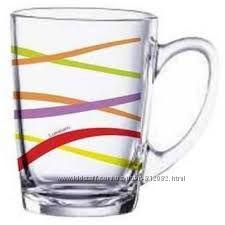Кружки Luminarc с узором. Ударопрочное стекло . Большой выбор