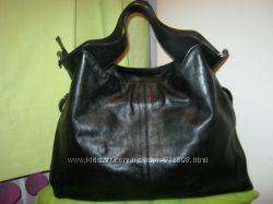 DerivaТурция Большая нат кожа сумка-шоппер-майка. Дешево