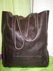 Roots. Канада. Нат. кожа сумка шоппер. Дешево