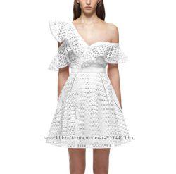 Вечернее белое летнее стильное платье Self Portrait
