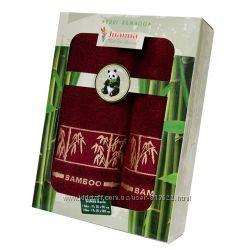 Подарочный набор полотенец бамбук Турция