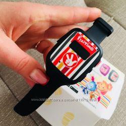 Детские телефон-часы с GPS трекером FixiTimeFT-101B Black Smart Watch