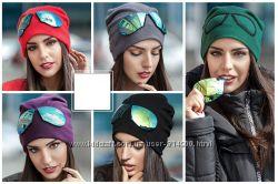Супер новинка  шапочки  с очками 6 цветов