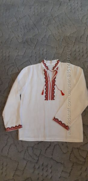 Вышиванка льняная рубашка для мальчика
