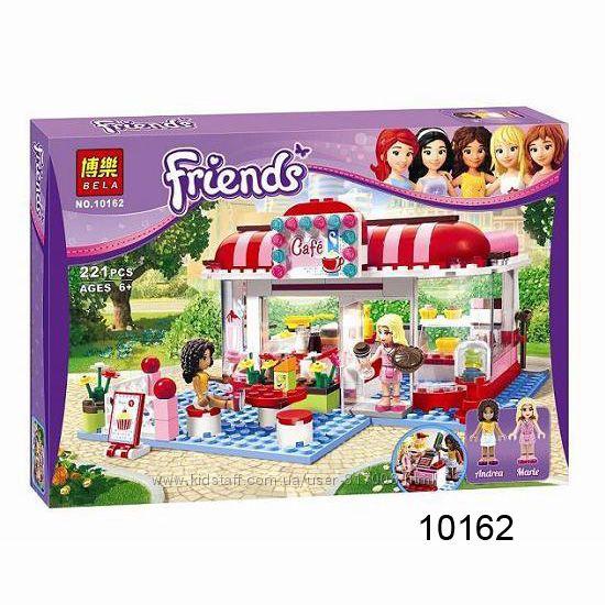 Бела Френдс конструктор 10162 10609 Bela Friends для девочки кафе пицерия