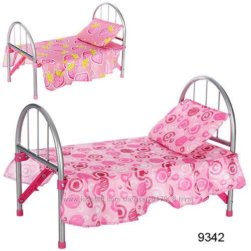Кроватка для кукол Мелого кукольная кровать Melogo с балдахином