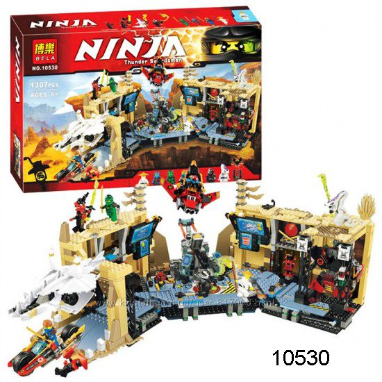 Бела Ниндзя 10530 конструктор Bela Ninjago ниндзяго Хаос в Х-пещере Ninja