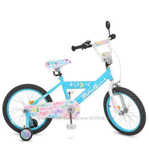 Профи Бабочка 2 велосипед 18 детский для девочки Profi Butterfly
