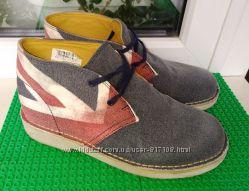 винтажные ботинки броги Clarks 1. 5 G  стелька 21. 5