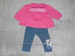 Розовая кофточка платье GYMBOREE 3-6 мес