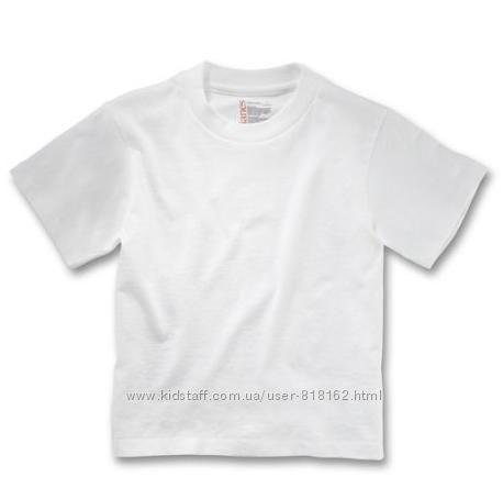 Белая футболка для девочки мальчика Fruit of the Loom на 4-5 лет