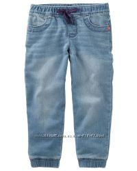 Мягкие джинсы на резинке на 18-24 мес