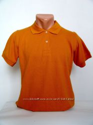 Яркая мужская футболка поло оранжевого цвета