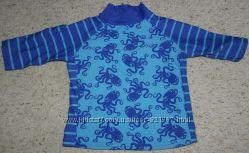 TU детская футболка море солнцезащитная плаванье синяя осьминоги