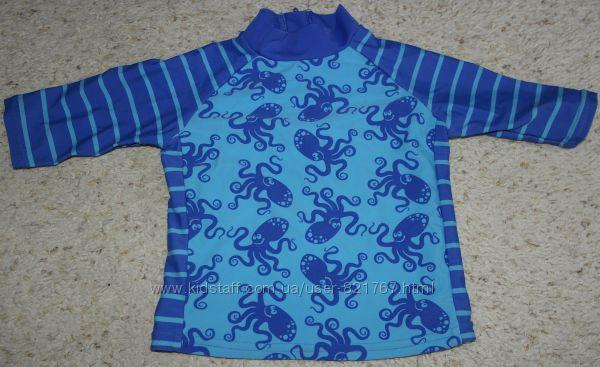 TU детская футболка для плаванья TU синяя осьминоги