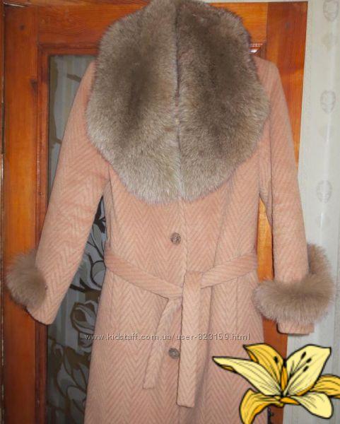 Зимнее пальто с песцом, 46-48р-р