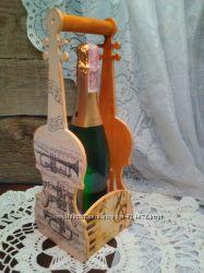 Подарочный короб-бутылочница для шампанского или вина