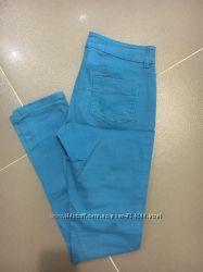 Джинсики бирюзово-голубые