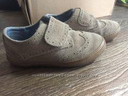 Туфли Броги Next натуральный замш в идеальном состоянии