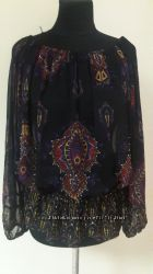 Шифоновая блузка с орнаментом индия