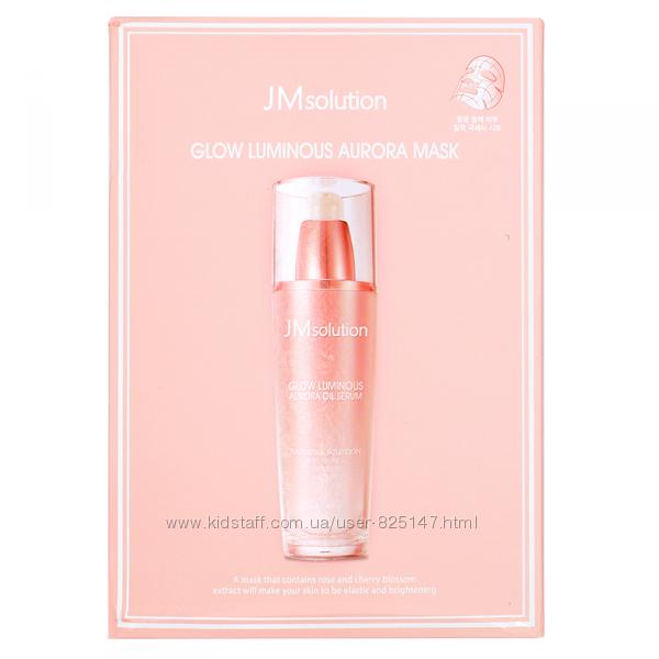 JM Solution Glow Luminous Aurora Mask - Тканевая Маска С Экстрактом Розы
