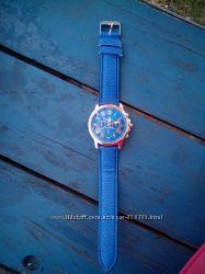 Часики Geneva синие и коричневые