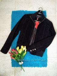 Супер стильный бомбер куртка 100 замша утепленная Laura di sarpi