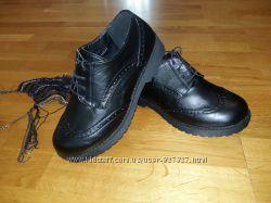 Туфли броги на толстой грубой подошве Lilly, 36 размер, 23 см, кожа PU