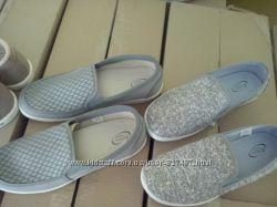 Слипоны, мокасины текстильные, спортивные туфли  41-45 р