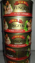 Тунец, шпроты, лососевая паста. Польша