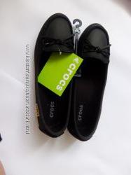 Балетки Crocs очень легкие Чёрные, 39 размер стелька 25 см