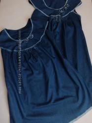 Комфортные платья для беременных Джинс хлопок