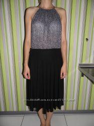 Платье комбинированное - Mango eur. 38