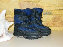 600eeb7c8 Сапоги ботинки детские зимние на мальчика синие с чёрным Kasey Weather Spir